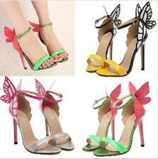 Womens Angel Wing Roma High Heel Stilettos Butterfly Ankel Strap Summer Sandals