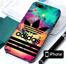 Adidas Striped Galaxy Cover iPhone 8 8+ 7 7+ 6 6+ 6s 6s+ 5 5s Tpu Rubber Case