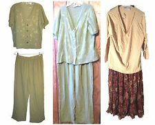 Collections 2 Piece Top and Pants Set or Top & Skirts Set Career Wear Size L