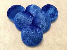 Blue Crushed Velvet Buttons, 16mm, 20mm, 25mm, 31mm, Small, Medium & Large