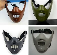 brown black white The Silence of the Lambs Hannibal Lecter Mask Film Masquerade