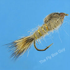 Hares Ear Gold Rib Premium Fly Fishing Flies - One Dozen - Sizes Available***