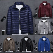 Mens Stand Collar Ultra-thin Duck Down Warm Coats Slim Fit Short Jackets Outwear
