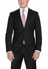 Mens Extra Slim Fit Solid Two Button Super 140s Wool Suit