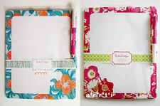 Lilly Pulitzer Write On Dry Erase Memo Board Scarlet Begonia or Do the Wave NIP