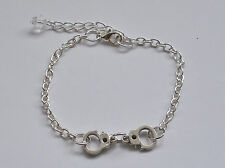 Bracelet with Handcuffs - Choose just Cuffs, Hand or Heart.