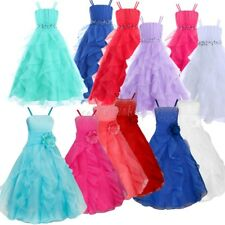 Flower Girl Dress Kid Princess Party Communion Pageant Wedding Bridesmaid Formal
