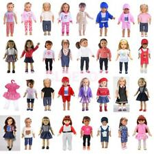 18'' Doll Clothes Outfit- Top Shirt & Pants/Dress for American Girl Doll Costume