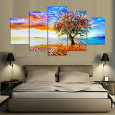 Modern River Tree Painting Abstract Modern Canvas Wall Poster Art Home Decor