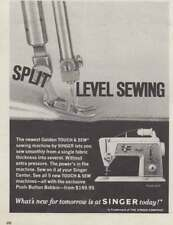 1968 Singer Sewing Machine: Split Level Sewing (22179) Print Ad