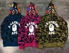 Unisex Hoodie Camo Shark Bape Monkey Pattern A Bathing Ape Jacket Casual Sweater