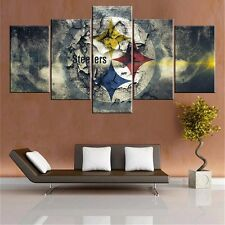 Pittsburgh Steelers Abstract Modern Painting Picture Canvas Art Wall Home Decor