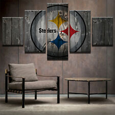 Pittsburgh Steelers Painting Picture Modern Abstract Canvas Art Wall Home Decor
