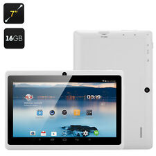 """White 7"""" Android 16 GB Tablet Bundled with Waterproof Case"""