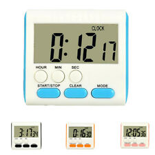 Digital Kitchen Cooking Large LCD Timer Count Down Up Clock Alarm 4 Colors