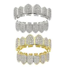 18K Gold Plated Rock Bling Hip Hop Mouth Teeth Grills Grills Top Bottom Caps