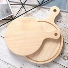 Beige Wooden Board Pizza Serving Tray Plate Dinner Dish with Handle 15-30cm