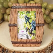 Wine barrel themed place card frame / picture frame - Wedding Favors / FC-8870