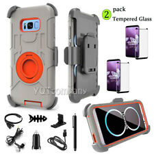 For Samsung Galaxy S8 Plus + Phone Case Cover With Kickstand Belt Clip Holster