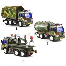 Army Green Military Truck Diecast Model Car Vehicles for Kids Toy Xmas Gift