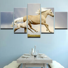 Animal Horse mom&baby Wall Abstract Modern Canvas Paintings Poster Home Decor