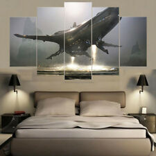 Spaceship Landscape Wall Modern Abstract Canvas Paintings Art Poster Home Decor