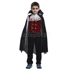Halloween Party Vampire Costume Toddler Boys Kids Cloak Top Pant Set Fancy Dress