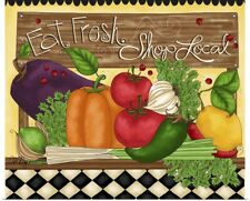 Poster Print Wall Art entitled Eat Fresh, Shop Local
