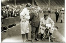 Poster Print Wall Art entitled Babe Ruth, Nick Altrock and Al Schacht doing a