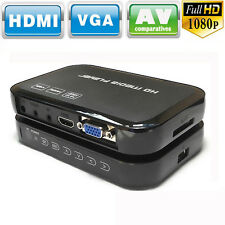 Full HD 1080p H6w Mini Multi-Media Player For HDTV HDMI AV SD USB SD/MMC Black