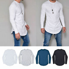 Fashion Men Slim Fit Crew Neck Long Sleeve Muscle Tee T-shirt Casual Tops Blous