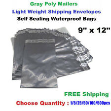 "9"" x 12"" Poly Mailers Shipping Envelopes Self Sealing Plastic Mailing Bags 1-500"