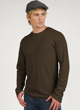 Long Sleeve Waffle Thermal - PimaTee Men's Crew Neck Thermal