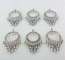 36/200pcs Tibetan Silver Earring/Necklace Connectors Charms Pendants 24x31mm