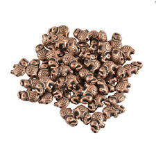 50PCS Elephant Beads Antique Gold/Bronze/Copper Charms Spacer DIY Bracelet