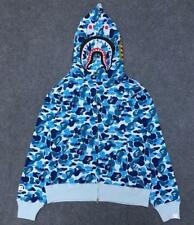Unisex Hot Shark Jaw Head Pattern Camo a bathing ape Zipper Jacket Bape Hoodie