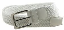 Men's Braided Belt For Dress Work Or Casual Brushed Finish Metal Buckle