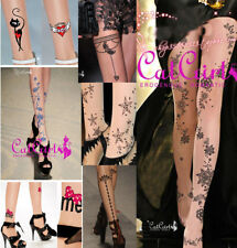 Special Tattoo Pantyhose Cute Colorful Pattern Stockings Sexy Halloween Costume