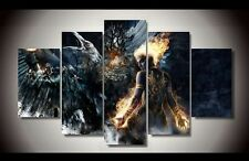 5 Pcs The Fantasy Battle Games Art Painting Wall Modern Canvas Poster Home Decor