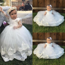 Infant 0-24 M Baptism Dresses White Ivory Soft Lace Christening Dresses Gowns