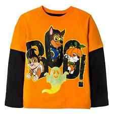 Paw Patrol Infant Toddler Boys Orange Black Boo Glow Halloween Shirt