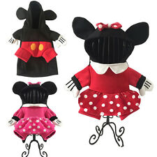 Pet Dog Cat Minnie Mickey Mouse Fancy Dress Up Clothes Halloween Cosplay Costume