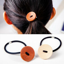 1Pcs Button Hair Accessories for Women Elastic Hair Bands Rubber Bands Headwear