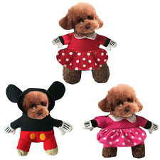 Pet Dog Cat Mickey Minnie Mouse Costume Christmas Cosplay Fancy Dress Clothes