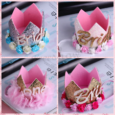 NEW Baby Boys Girls Flower Birthday Party Princess Hat Crown Headband Hairband