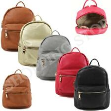 Fashion Ladies Womens Small Faux Leather Girls Rucksack Backpack College Uni Sch
