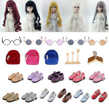 Stylish BJD Shoes Glasses Wig Stand Hangers for 1/6 Modern Dolls Making & Repair