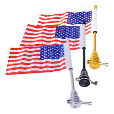 American USA Flag Flagpole for Motorcycle Bike Luggage Rack Mounting 28x17cm