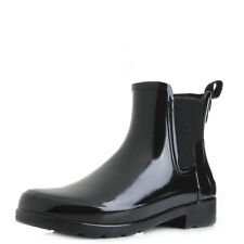 Hunter Original Refined Chelsea Gloss Black Wellies Wellington Boots Shu Size