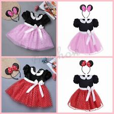 Baby Kids Girls Halloween Minnie Mouse Cosplay Costume Party Dress Fancy Outfits